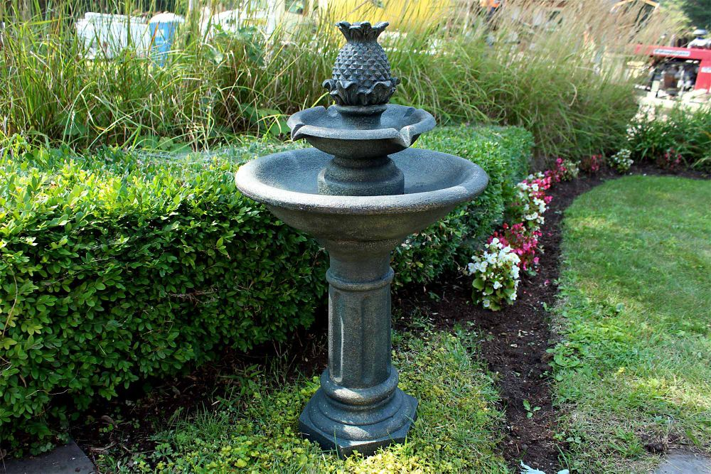 Polyresin Outdoor Fountain, with LED Lights