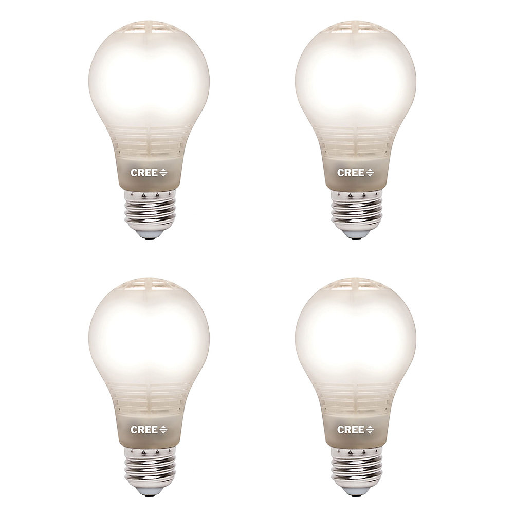 60W Equivalent Soft White (2700K) A19 Dimmable LED Light Bulb with 4Flow  Filament Design