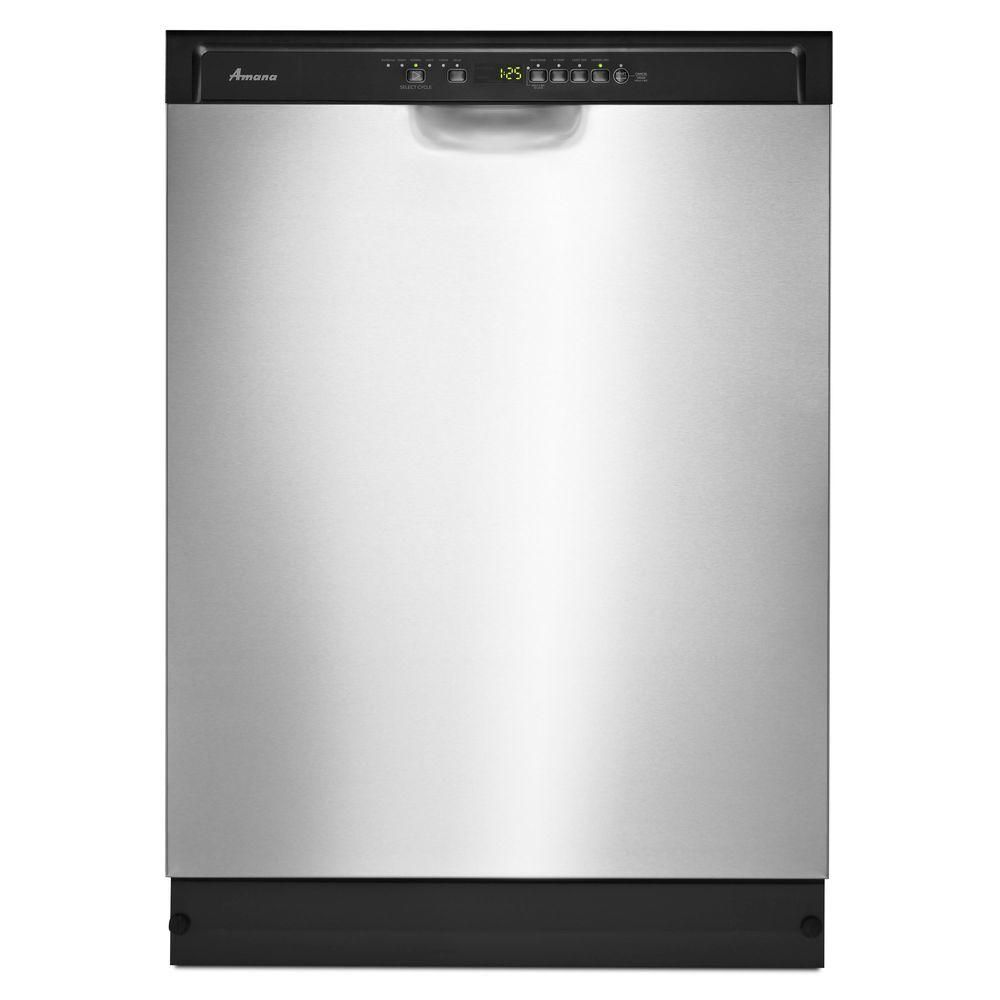 Amana 24 Inch Tall Tub Dishwasher With Stainless Steel Interior In Stainless Steel The Home