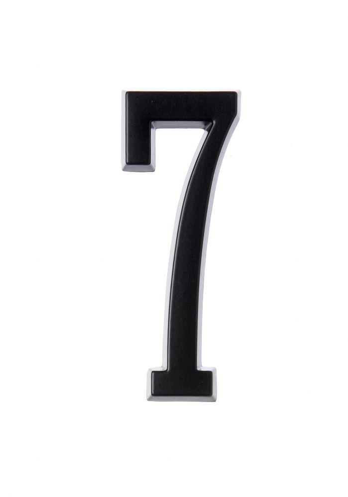 Numéro D'adresse Autocollant 4 Po, Fini Noir, 7