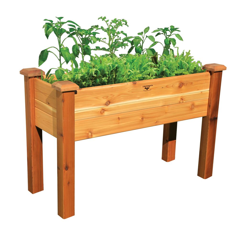 Elevated Garden Bed 18x48x32 Safe Finish