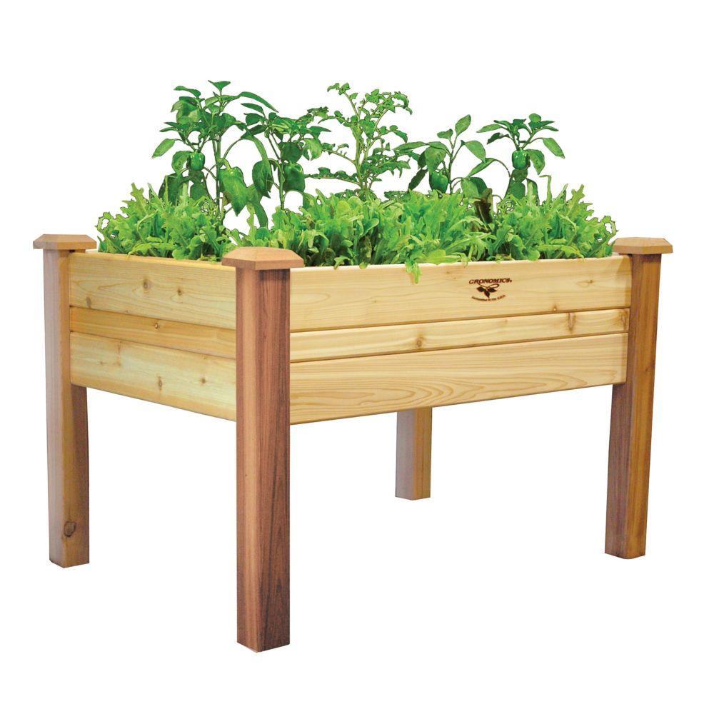 Planche de jardin surélevée, 34 x 48 x 32po (10po de profondeur)