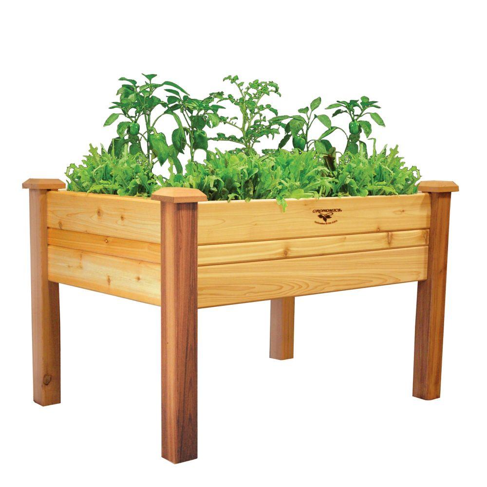 Planche de jardin surélevée au fini non toxique, 34 x 48 x 32po