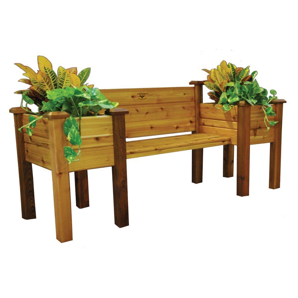 Planter Bench 24x82x36 Safe Finish