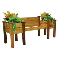 Gronomics 24-inch x 82-inch x 36-inch Planter Bench with Food Safe Finish