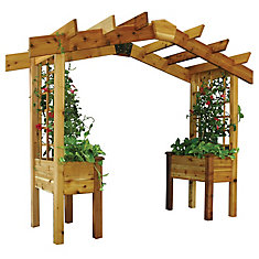 3 ft. x 10 ft. x 8 ft. Pergola Planter with Food Safe Finish