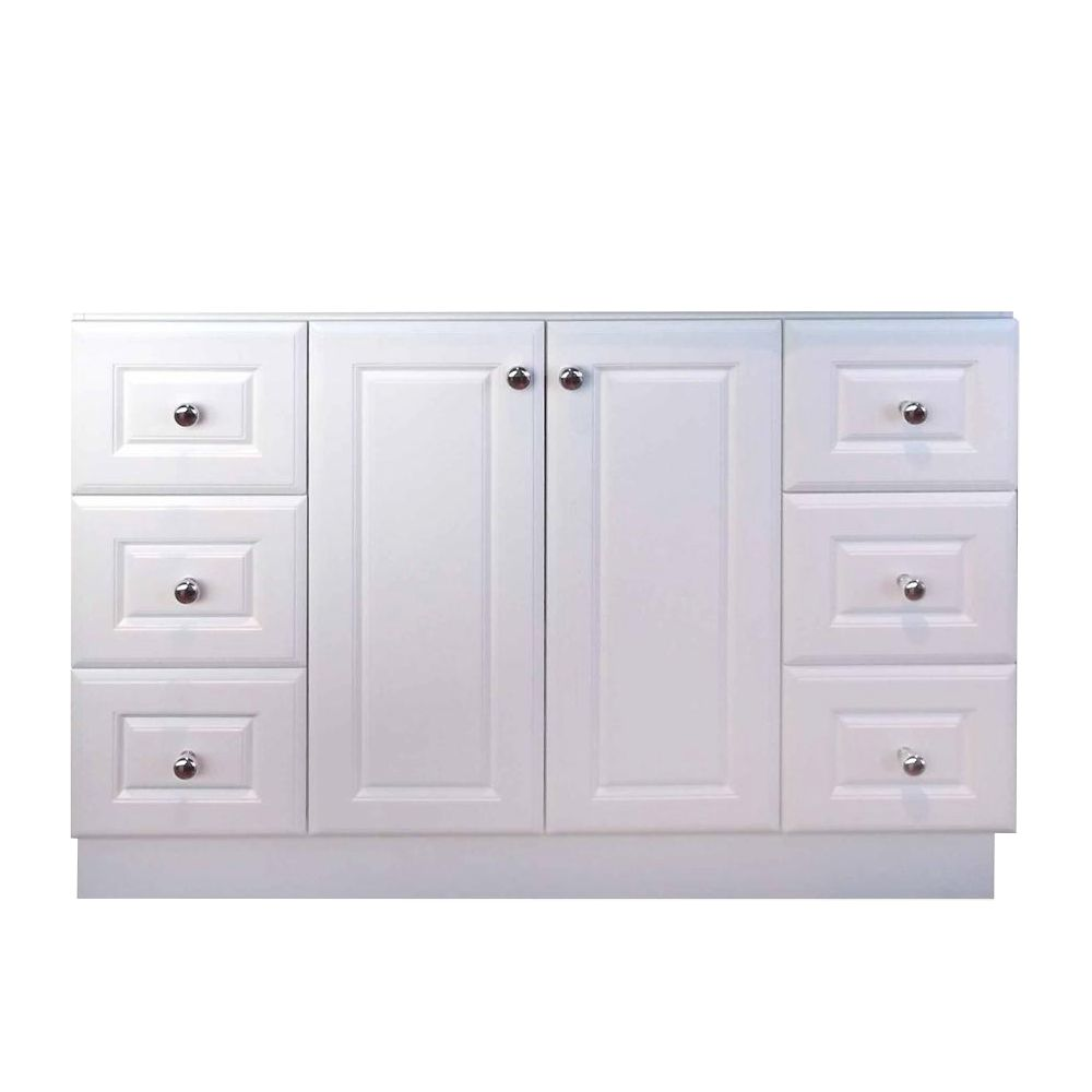 48 In. Classic Matte White Vanity Base 15112 Canada Discount
