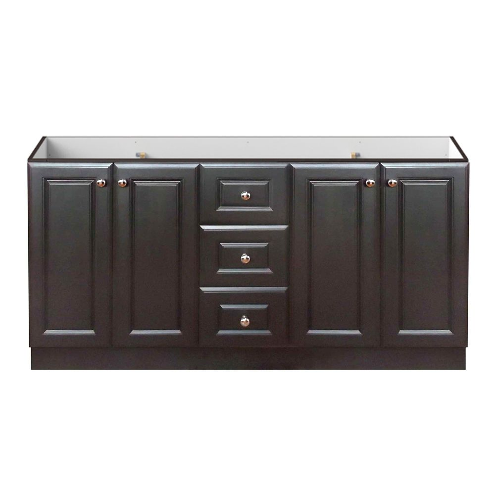 60-Inch  Vanity Cabinet in Dark Chocolate