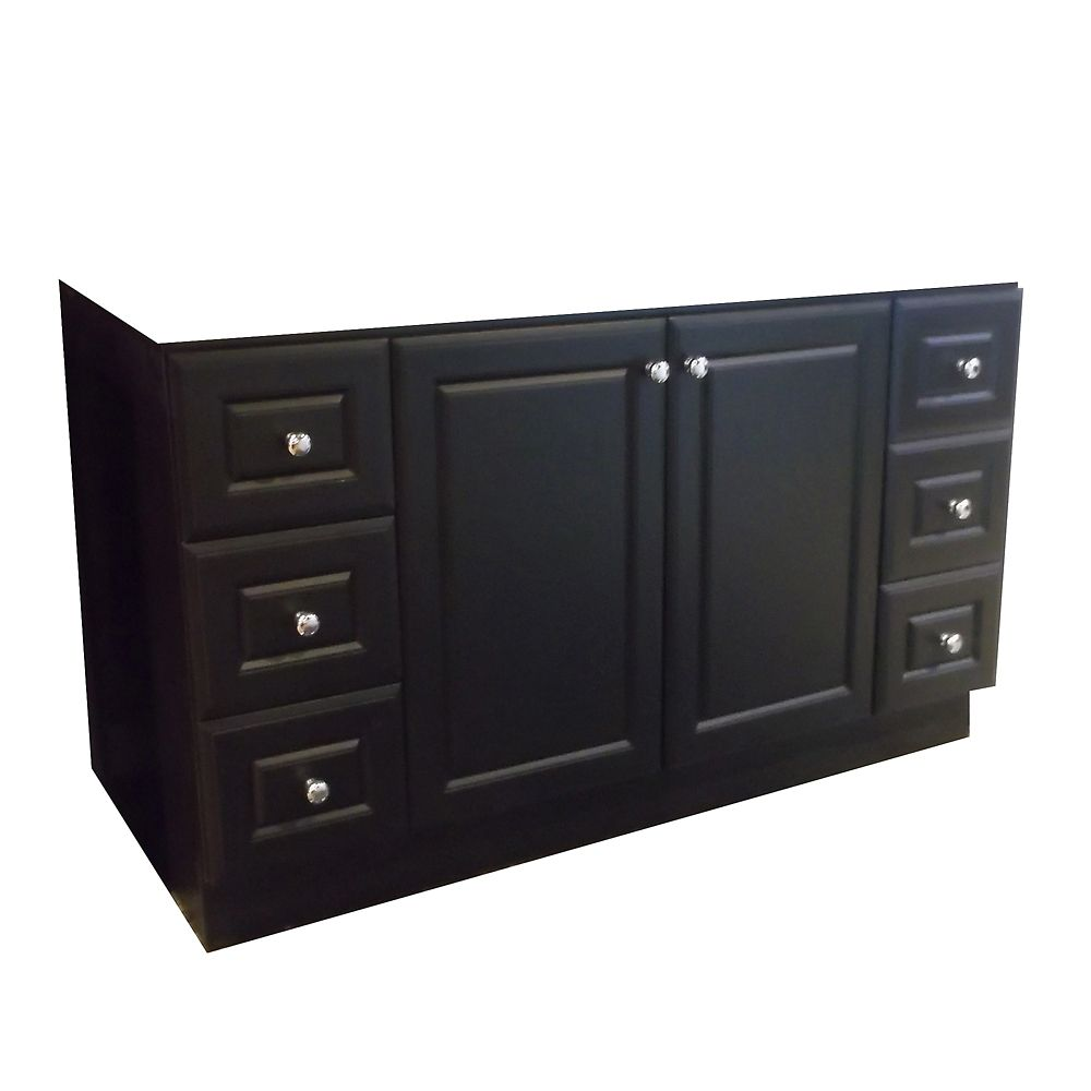 60-Inch  Vanity Cabinet in Dark Chocolate
