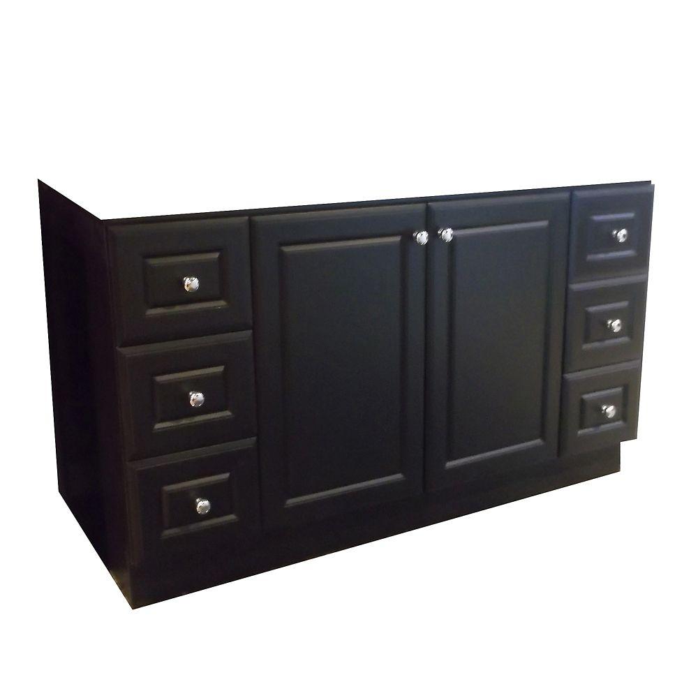 Magick Woods 60-Inch  Vanity Cabinet in Dark Chocolate