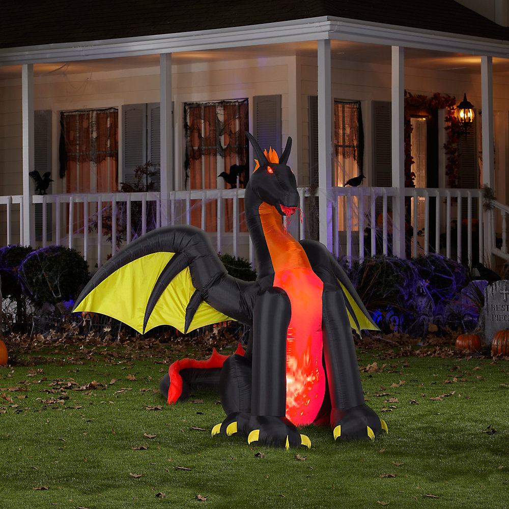 7' Fire & Ice Dragon Inflatable