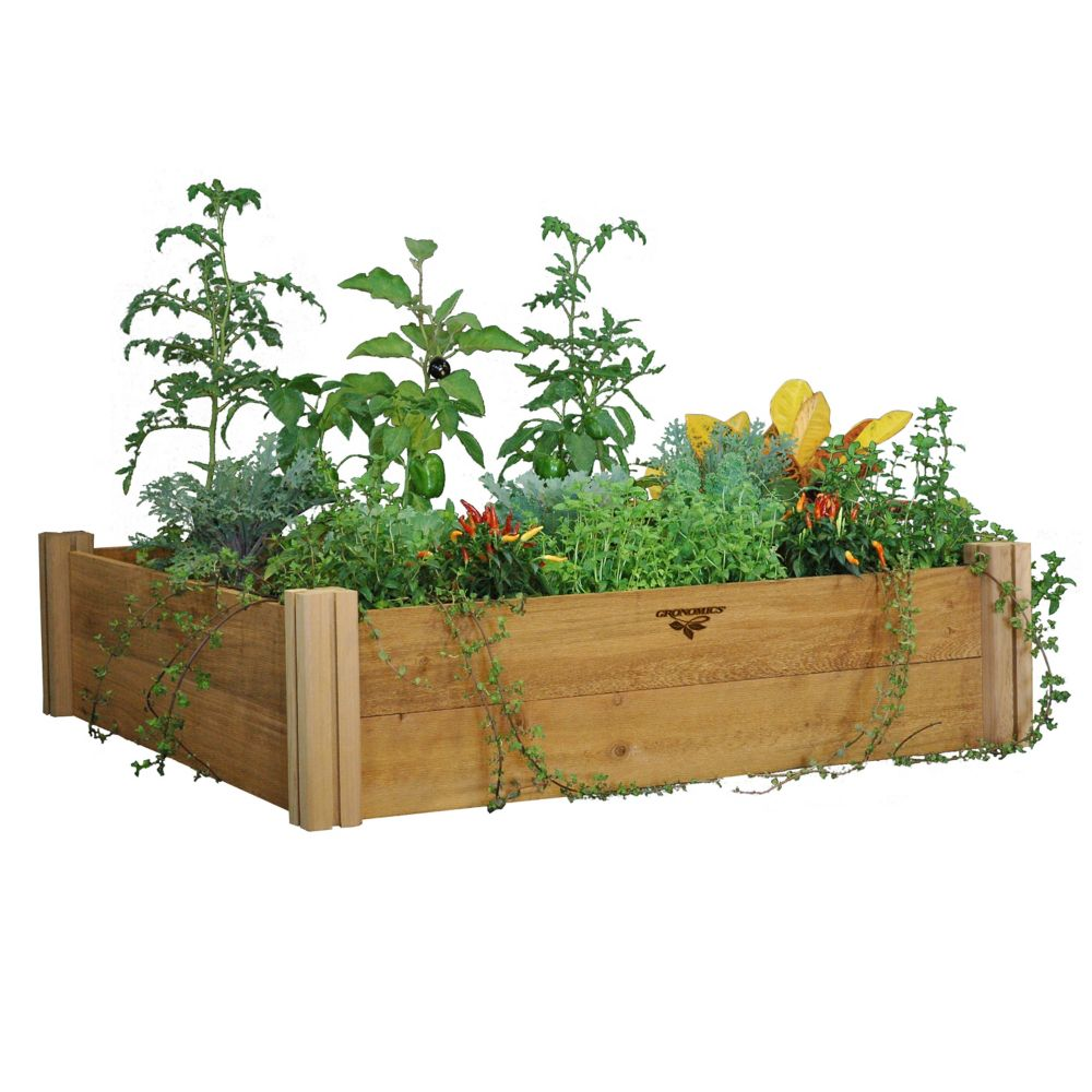 Gronomics Modular Raised Garden Bed 48x48x13 Two Level The Home Depot Canada