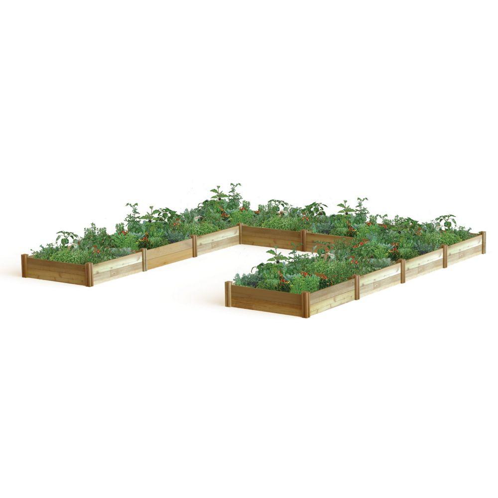 U Shaped Harvester Raised Garden Bed 189x189x13