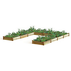 Gronomics 189-inch x 189-inch x 13-inch U Shaped Harvester Raised Garden Bed