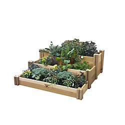 Gronomics 48-inch x 50-inch x 19-inch Multi-Level Rustic Raised Garden Bed
