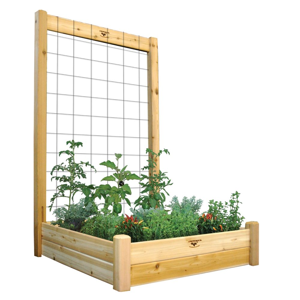 "Raised Garden Bed with Trellis Kit 48x48x80 - 10""D RGB TK 48-48 in Canada"