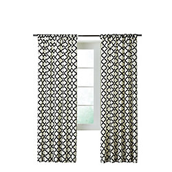 Home Decorators Collection Lattice Lux, Black - 52 Inches X 84 Inches (Length)
