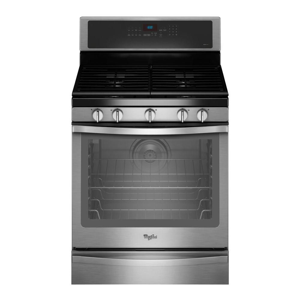 5.8 cu. ft. Free-Standing Gas Range with AquaLift Self-Cleaning Technology in Stainless Steel