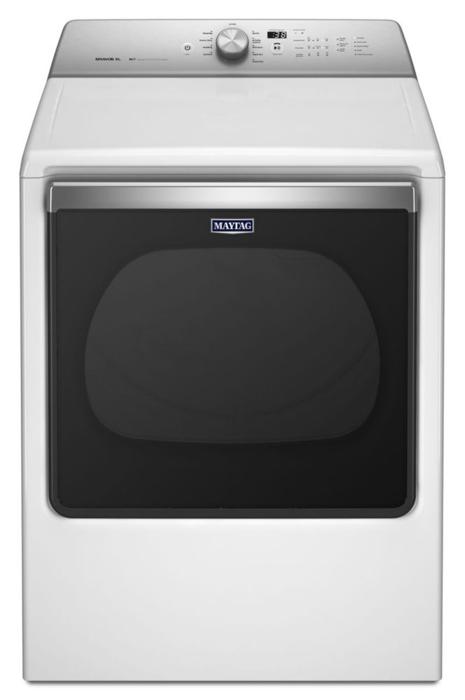 8.8 cu. ft. Extra-Large Capacity Electric Dryer with PowerDry Cycle in White