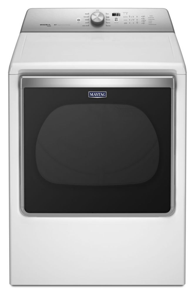 8.8 cu. ft. Extra-Large Capacity Gas Dryer with Advanced Moisture Sensing in White