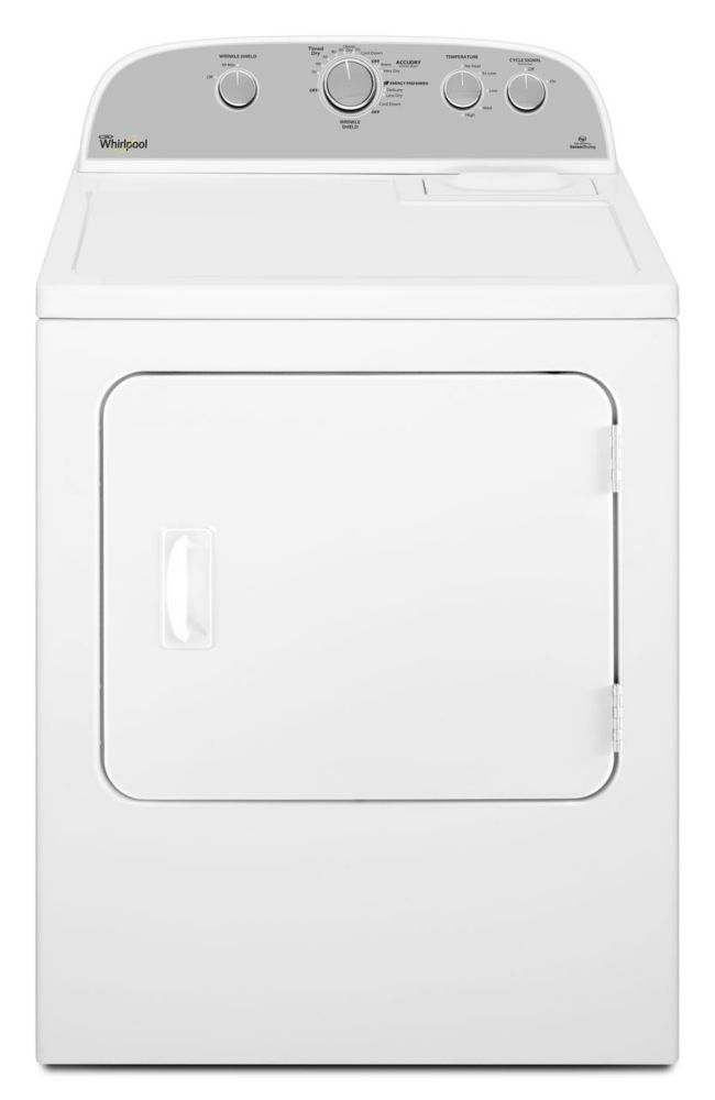 7.0 cu. ft. Electric Dryer with Cool Down Cycle in White