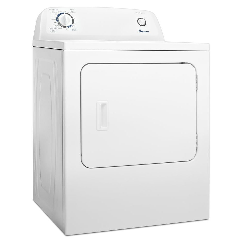 6.5 cu. ft. Electric Dryer with Automatic Dryness Control in White