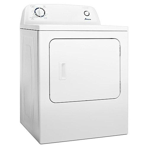 Séchoir électrique à chargement par le haut de 6,5 pi3 avec contrôle automatique de la sécheresse en blanc