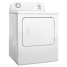 6.5 cu. ft. Top Load Electric Dryer with Automatic Dryness Control in White