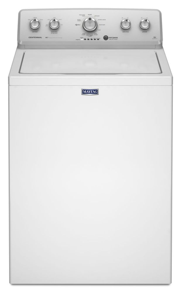 4.2 cu.ft. Top Load Washer with Stainless Steel Wash Basket in White