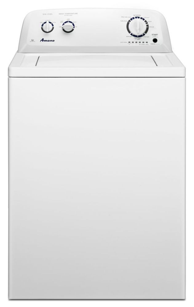 4.1 cu. ft. High-Efficiency Top-Load Washer with Spreckled Porcelain Tub in White
