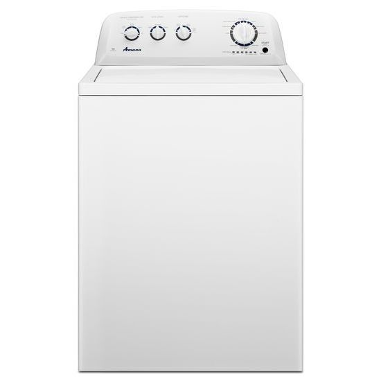4.2 cu. ft. High-Efficiency Top-Load Washer with Stainless Steel Tub in White