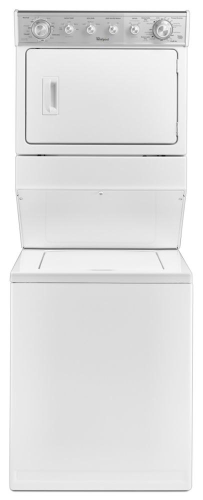 8.4 cu. ft. Electric Combination Washer - Dryer in White
