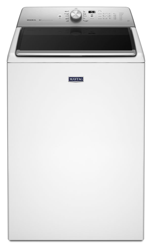 6.1 cu. ft. Top Load Washer with Sanitize Cycle in White