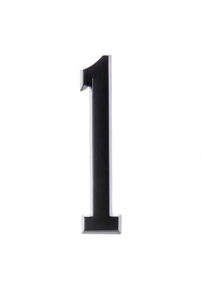 Numéro D'adresse Autocollant 4 Po, Fini Noir, 1