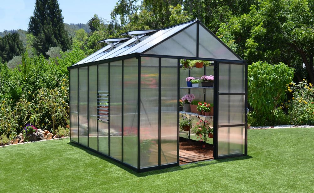 Palram Glory 8 ft. x 12 ft. Heavy Duty Greenhouse