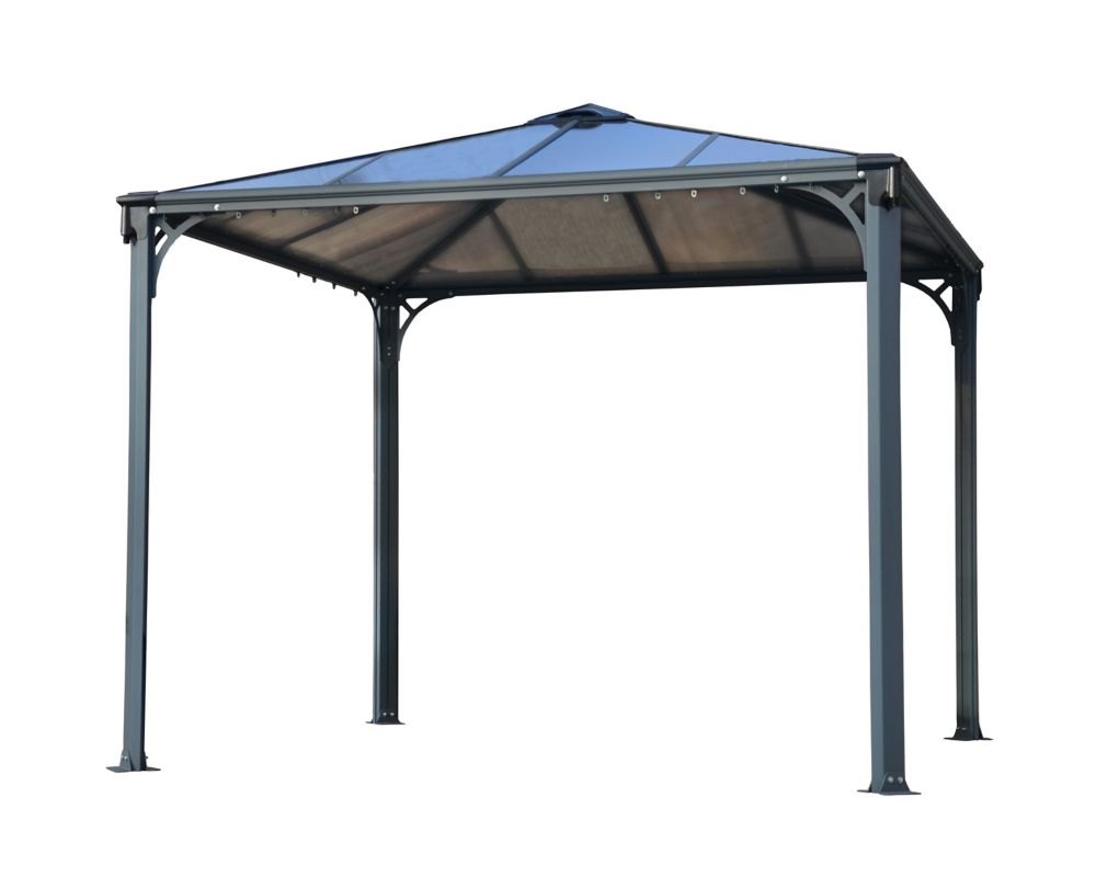 Palram Palermo 10 ft. x 10 ft. Gazebo in Basalt-Grey