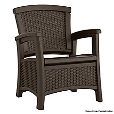 Suncast Outdoor Club Chair with Storage