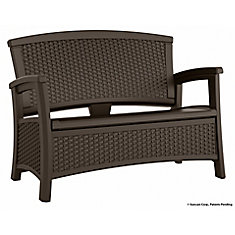 Elements Collection Wicker Bench With Storage