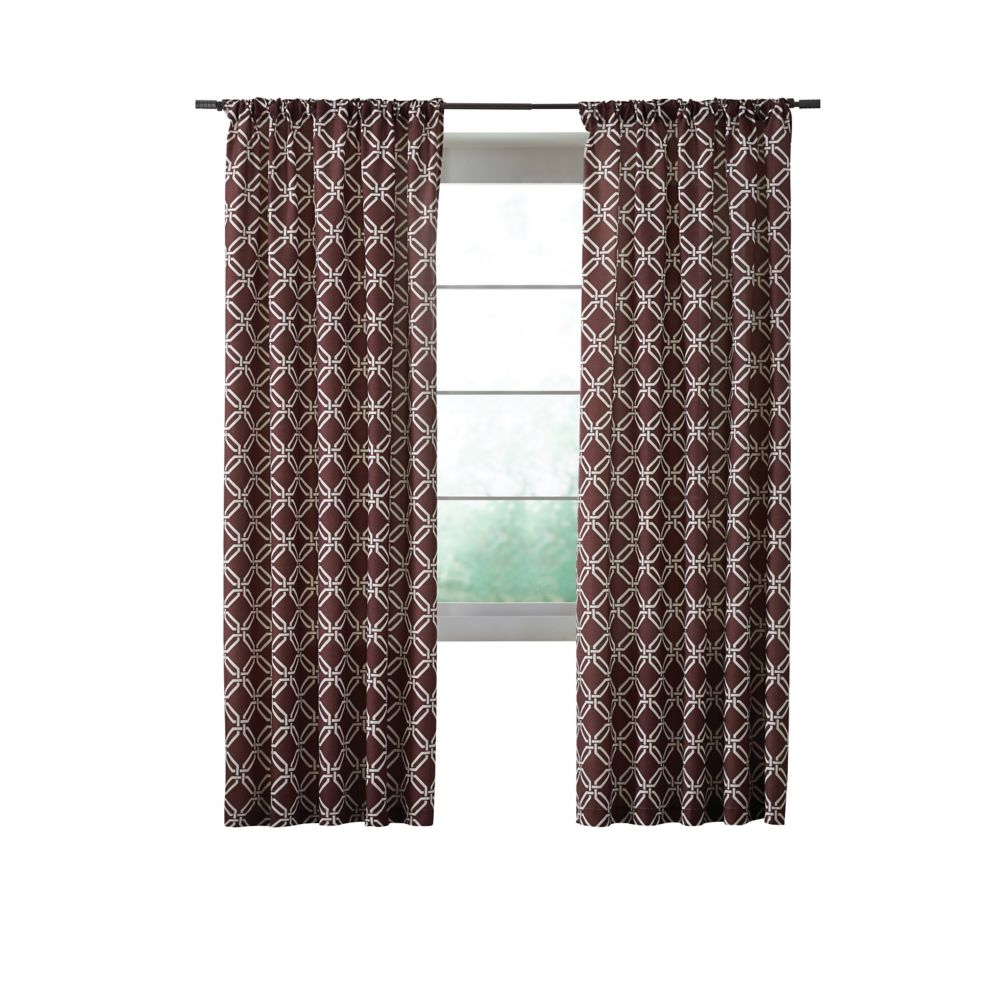 Essex Curtain, Brown  - 52 Inches X 84 Inches (Length)
