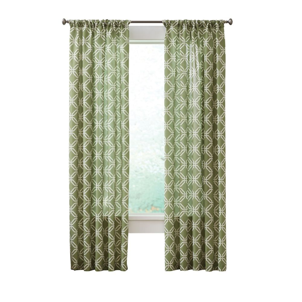 Essex Curtain, Green   - 52 Inches X 84 Inches (Length)