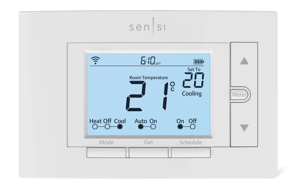 Thermostat Wi-Fi programmable Sensi