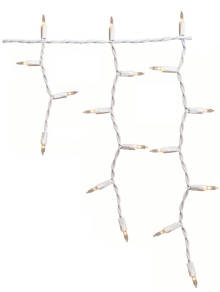100 mini-lumières transparentes en glaçons