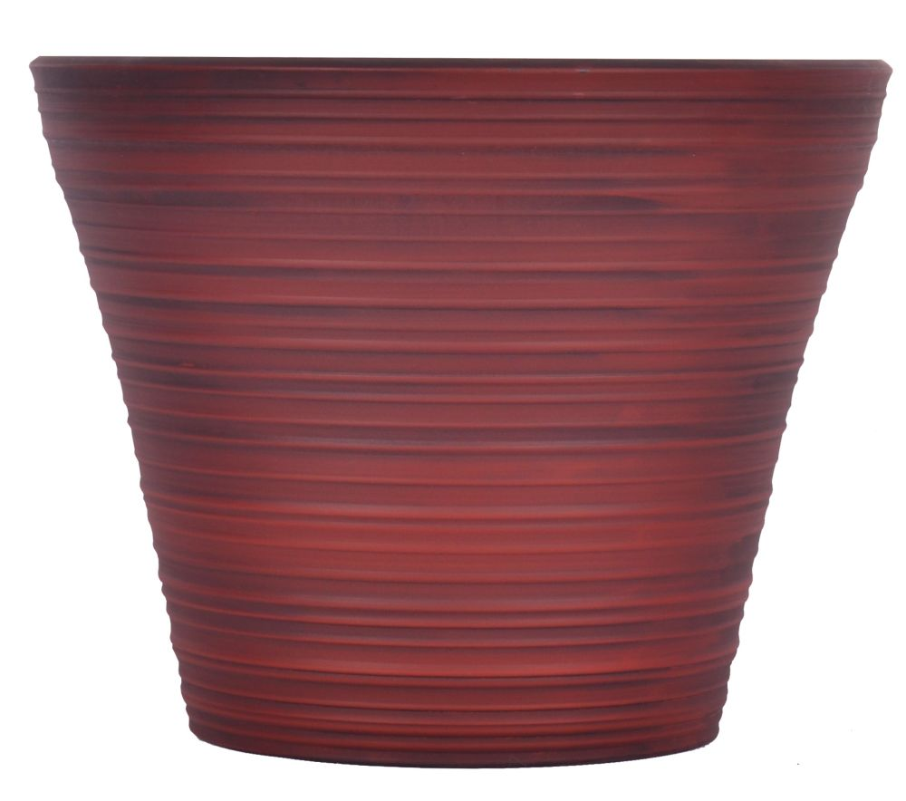 16 Inch Cabana Planter - Jester Red