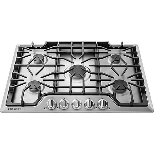 Gallery 30-inch Gas Cooktop with Five Sealed Burners in Stainless Steel