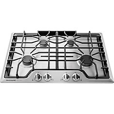 Gallery 30-inch Gas Cooktop with Four Sealed Burners in Stainless Steel