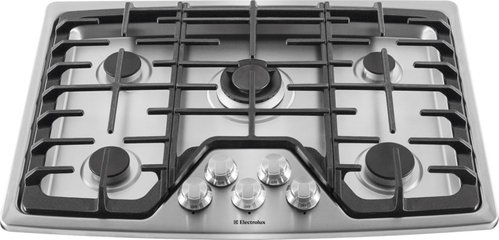 30-inch Built-In Gas Cooktop with Five Sealed Burners in Stainless Steel