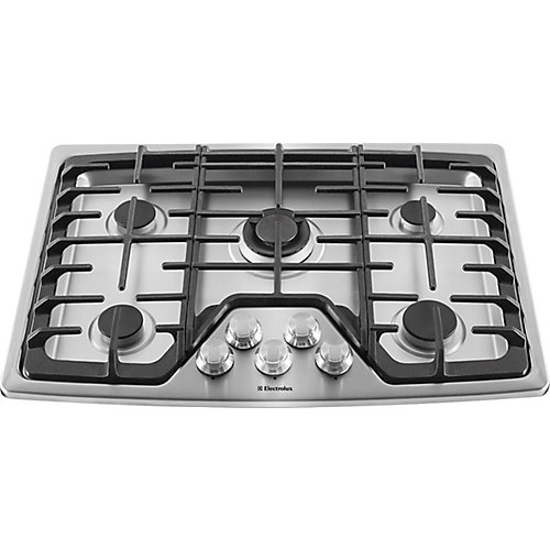 30-inch Gas Cooktop with 5-Burners in Stainless Steel