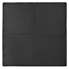 Connect-A-Mat Anti-fatigue Utility Mat - Black (4 pack with borders)