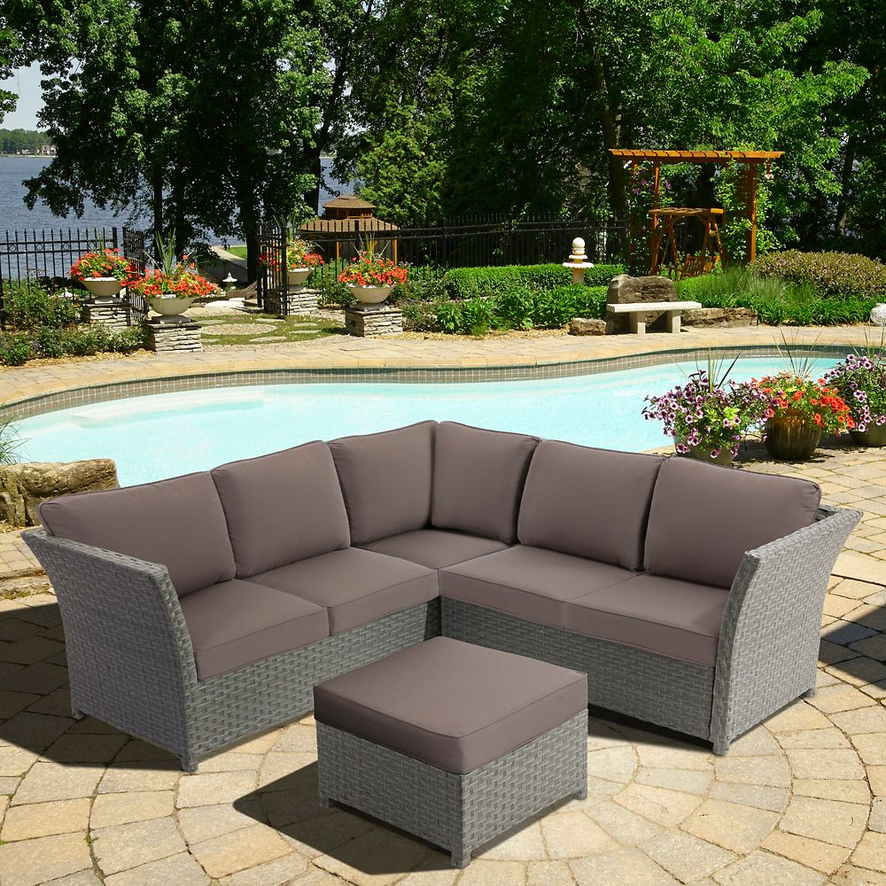 Clara: 3 Pc Sectional Set Including Ottoman