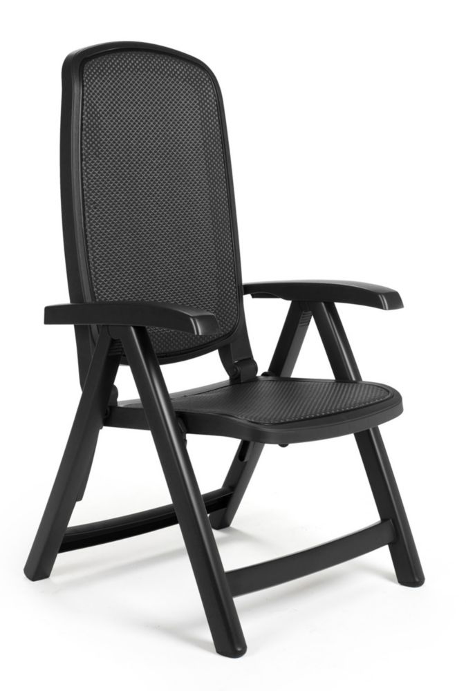 Nardi Charcoal Delta 5 position folding chair